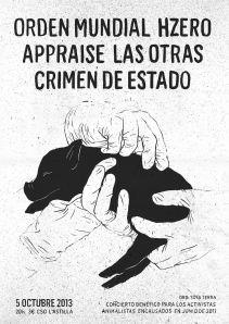 Concierto benéfico para los activistas animalistas encausados tras las detenciones del 22 de Junio de 2011